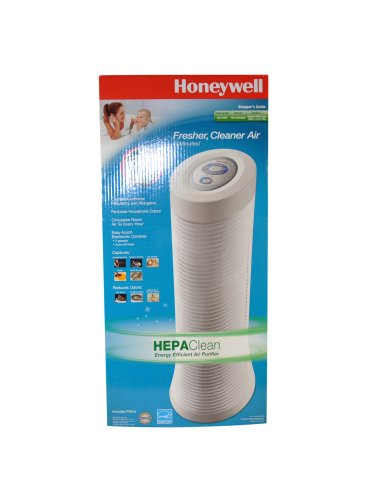 Honeywell HHT-155-SMS HEPA Clean Energy Star Rated Air Purifier + Odor Absorbing Pre-filter + Washable Foam Pre-filter