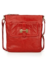 M&S Collection Leather Bar Tab Cross-Body Bag