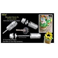 Giarraffa Co. Push Pop ContainersTM 12 Count with New Threaded Screw-in Stick and Base Design and Our Signature 1