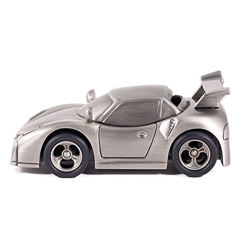 Pewter Sports Car Bank