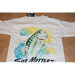 Size Matters Large Mouth Bass Adult&Youth Short Sleeve Shirt