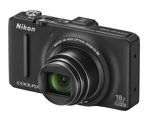 Nikon COOLPIX S9300 Compact Digital Camera - Black (16MP, 18x Optical Zoom) 3 inch LCD