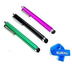 Bluecell 3 Pack of Stylus Black Green Pink Universal Touch Screen Pen for Ipad 2 Ipod Iphone 4 4S 3g 3gs,4s,kindle fire, Motorola Xoom, Samsung Galaxy Tab 8.9 10.1, Blackberry Playbook HTC Flyer Evo