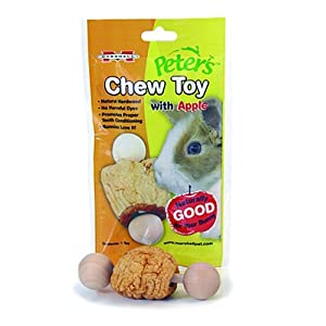 Rabbit Toy: Peter's Chew Toy for Rabbits and Small Animals, Apple from Amazon!