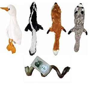 Skineez MINI SKINNEEEZ Skinneez No Stuffing Dog 4 Toys