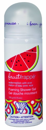 Upper Canada Soap Fruit Frappe Foaming Shower Gel, Watermelon with Acai Berry, 4.4-Ounce