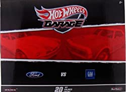 Hot Wheels 2011 Garage 20 Car Set Ford VS. GM Chevy Limited Edition Set with 20 of 1:64 Scale Collectible Die Cast Cars