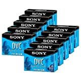 Sony DVM60PR10KB 60-Minute Premium DVC/MiniDV Tapes - 10 Pack ~ Sony