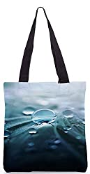 Snoogg Pure Dew Poly Canvas Tote Bag
