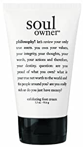 Philosophy Soul Owner Exfoliating Foot Cream, 3.3 Ounce
