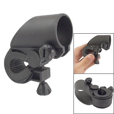 Como Black Plastic Bike Bicycle LED Flashlight Holder Mount