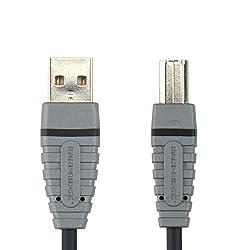 Bandridge BLUE USB A-B Device Cable USB-A M - USB-B M 4.5m (BCL4105)
