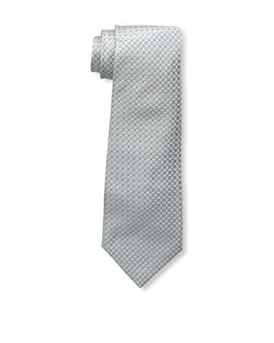 Kiton Men's Silk Tie, Silver