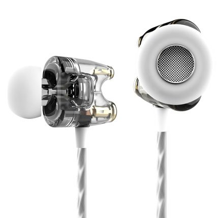 Ttpod T1-E High Definition Dual Dynamic Professional In-Ear Earphone Gray