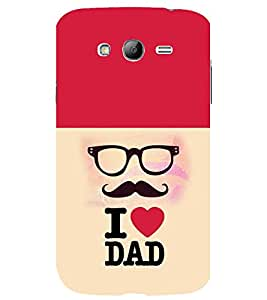 printtech I Love Dad Back Case Cover for Samsung Galaxy Grand Neo Plus / Samsung Galaxy Grand Neo Plus i9060i