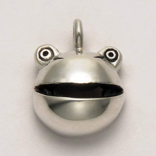 Sterling Silver Frog's Face with Moveable Mouth Pendant