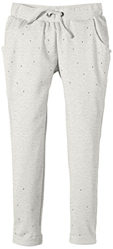 NAME IT - Halullu Kids Bag/slim Sw Pant 215, Pantaloni sportivi per bambine e ragazze, grigio (light grey melange), 128 (Taglia produttore: 128)