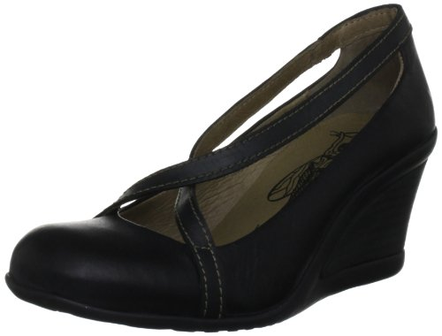 Fly London Women's Jelo Black/Anthracite Wedges Heels P142532004 7 UK