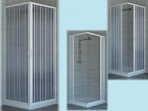 BOX DOCCIA CABINA DOCCIA PVC ANGOLARE H.185 LARGHEZZA 70/80 ARREDO BAGNO