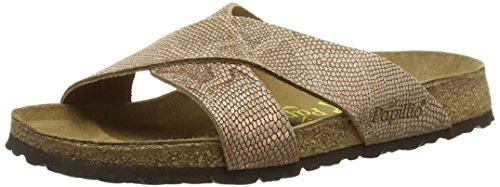 BirkenstockDaytona Leder - Ciabatte Donna , Marrone (Braun (Royal Python Brown)), 38