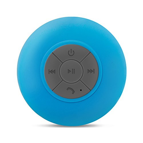 XINGLAN Portable Waterproof Bluetooth EDR Shower Speaker phone built in Mic SOUL COLE Car Handsfree Speaker (Blue)