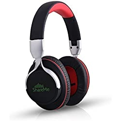 Mixcder ShareMe Over-Ear 3.5mm Wireless Bluetooth Gaming Headphones(Black)