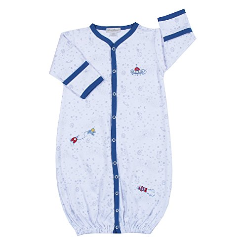 Kissy Kissy - Outer Space Print Converter Gown-Newborn front-1051101