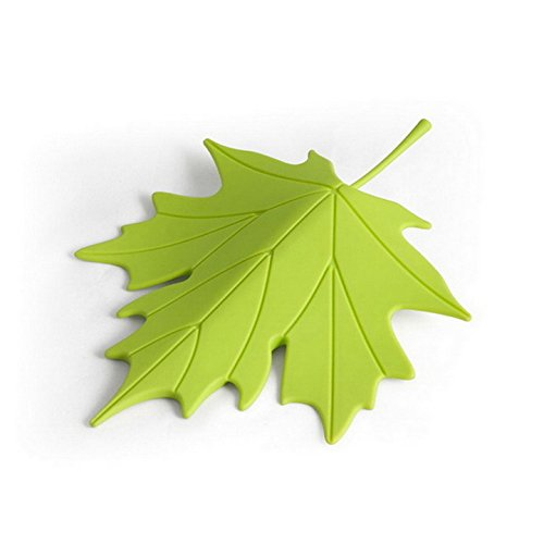 Door Stopper Wedge Autumn by Qualy Design Studio. Leaf Shape. Design Oriented and Functional Door Stop. Great Housewarming Gift. Made of High Quality Plastic. Green Color.