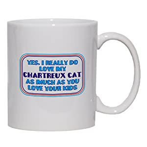 Yes, I really do love my CHARTREUX CAT as much as you love your kids