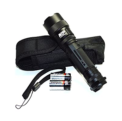 MP 12 Tactical LED Flashlight 875 Lumens 3 Mode Waterproof Weapon Mountable Tactical Hunting Camping Hiking Fishing Self-Defense Mid-Size from Powertech Inc.