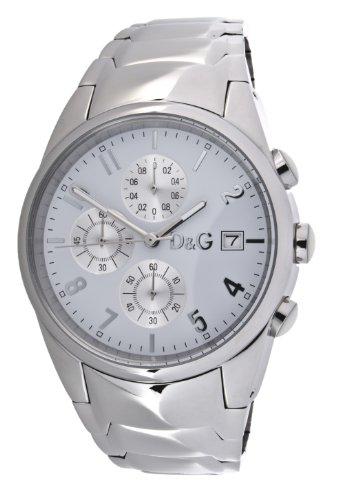 Dolce & Gabbana D&G - Reloj analógico de cuarzo para hombre con correa de acero inoxidable, color plateado