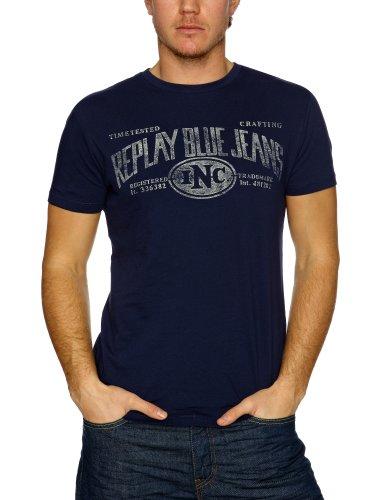 Replay M6002 Printed Men's T-Shirt Royal Blue XX-Large