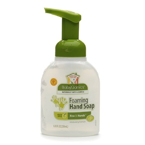 Babyganics Fine & Handy Foaming Hand Soap, Green Apple 8.45 oz (250 ml)