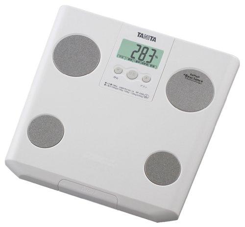 【Amazonの商品情報へ】TANITA 体脂肪計付ヘルスメーター ホワイト BF-048-WH