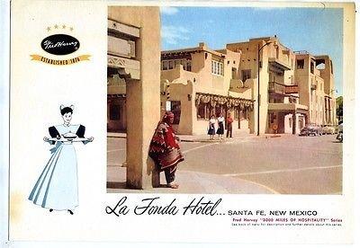 Fred Harvey Menu Union Terminal Cleveland 1958 La Fonda Hotel Santa Fe (Santa Fe Hotels compare prices)