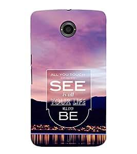 EPICCASE all your life Mobile Back Case Cover For LG Nexus 6 (Designer Case)