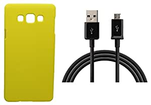 Toppings Hard Case Cover With Data Cable For Samsung Galaxy J2 - Yellow