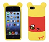 JBG 3D Lovely Disney Series Style Soft Silicone Cover Case Compatible for Apple iPhone 5 5S (Winnie the Pooh)