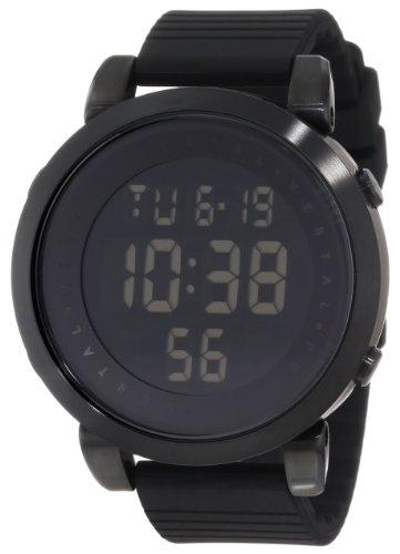 Vestal Men'S Ddds01 Digital Doppler Rubber All Black Negative Display Watch