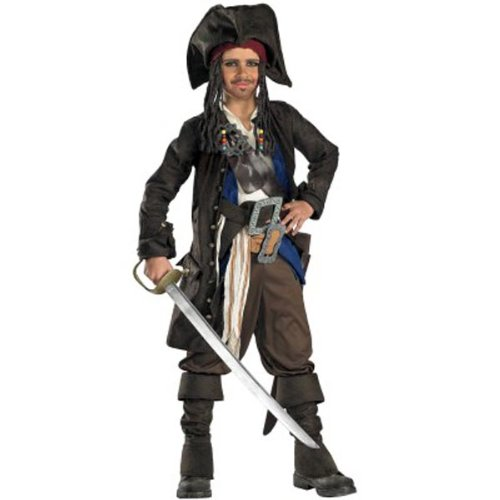 Deluxe Kids Captain Jack Sparrow Costume