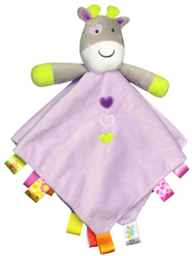 Taggies Rattle Head Giraffe Baby Girls Plush Security Blanket Lovie By Taggies - Lavender - Not Applicable