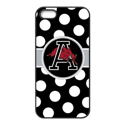 iPhone 5 5s Case - NCAA University Of Arkansas Razorbacks Polk Dots Apple iPhone 5 5s Waterproof TPU Back Cases Covers at Amazon.com