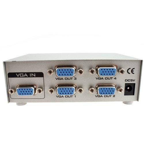 Cheap IMAGE® 1 PC To 4 Monitors Splitter Box VGA/SVGA LCD CRT 4 Port Video