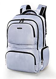 Polaris Laptop Backpack with Hidden Compartment and Anti-thief Zipper (Gray)