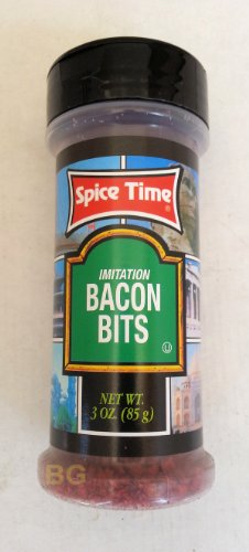 Imitation Bacon Bits Spices Seasonings By Spice Time 3 Oz... Mtc