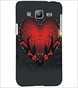 PrintDhaba Heart D-5122 Back Case Cover for SAMSUNG GALAXY J2 (Multi-Coloured)