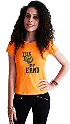 LetsFlaunt Talk to my hand gameofthrones T-shirt orange girls Dry-Fit-X-Large Nw