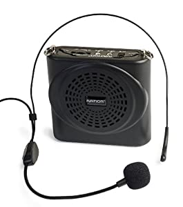 Ivation Portable Voice Amplifier with Waist/Neck Band Strap and Belt Clip - Great for Teachers, Tour Guides, Shows, Presentations Etc. - Rechargeable Lithium Battery