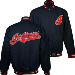 Cleveland Indians MLB Reversible J.H. Design Jacket (Navy) by J.H. Design