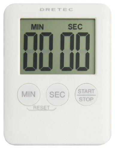 DRETEC 【胸ポケットにもスッポリ入る薄型】 デジタルタイマー 「ポケッティ」 ホワイト T-307WT